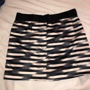GAP blue/white stripe skirt